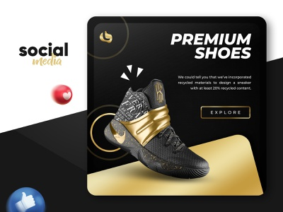 Social Media Post Design footwear fashion ecommerce story ads shoes nike advertisement ads facebook ads facebook post instagram stories instagram template instagram banner instagram post web banner banner design banner social media banner social media post socialmedia