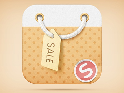 Bag icon rope bag shop shoping market store sale ios icon