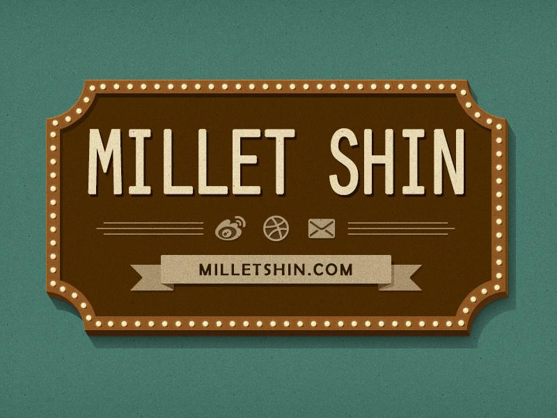 For my new website millet shin website blog branding dribbble