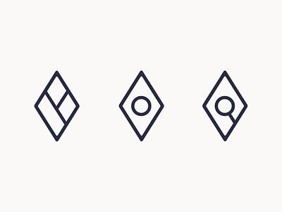 Travel: Logo Exploration 1 branding brand simple shapes line art line geometry geometric icon logo travel diamond