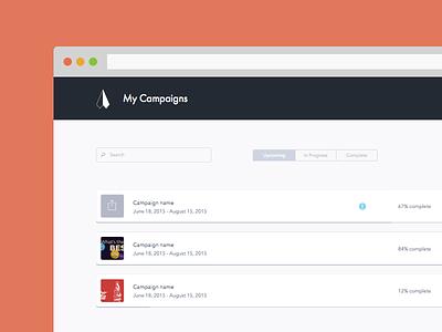 Flytedesk Dash ux ui app web dash campaign advertising dashboard