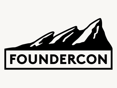 Foundercon WIP wip illustration typography branding mountains flatirons boulder conference founder