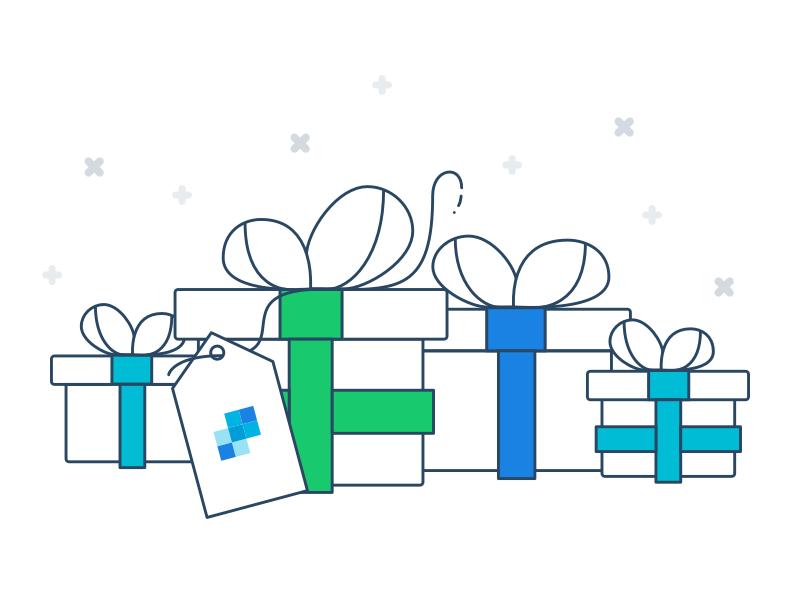 Gift illustration dribbble