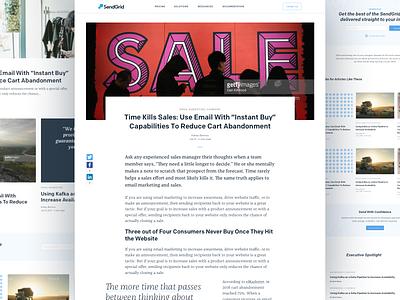 Sendgrid Blog Redesign ux sendgrid email marketing email article minimal design redesign blog