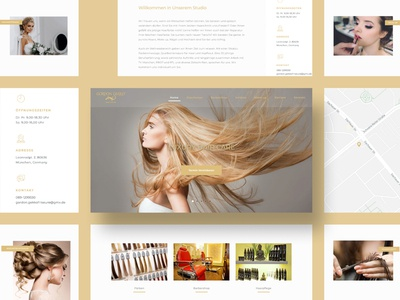 UI Design for a luxury hair care brand in Germany makeup care beauty luxury web branding design ui