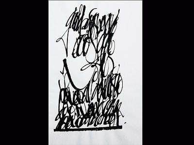 Aire en el caos gestual tinta caligrafia gestual calligraphy ink art