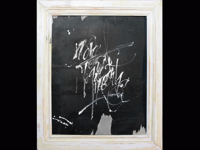 amor es todo lo que necesitas arte art caligrafia tinta colapen tiralineas ink calligraphy gestual
