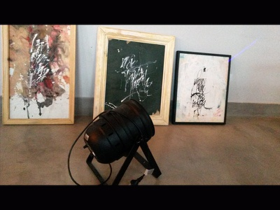 preparations for the exhibition arte art caligrafia tinta colapen tiralineas ink calligraphy gestual