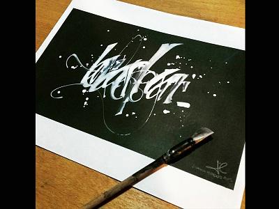 Tarda En Llegar arte art caligrafia tinta colapen tiralineas ink calligraphy gestual