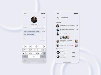 Instagram redesign ui uiux soft ui redesign instagram design figma app application adobe xd
