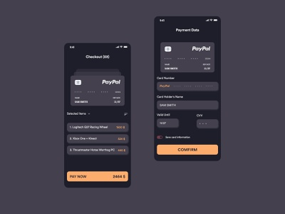 Credit Card Checkout card dailyui 002 dailyui ux uiux ui design application app adobe xd