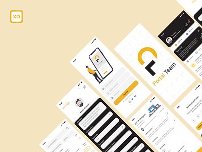 Job listing application cv job app design application uiux redesign design ui app adobe xd