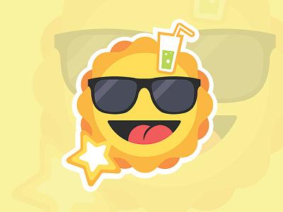 Summer Sun Fun cool sunglasses smile fun star drink sun summer