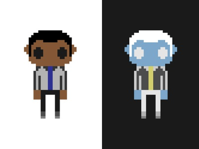 Pixel Me And Zombie Me inverse sticker mule free pixels stickers 8-bit video game zombie game