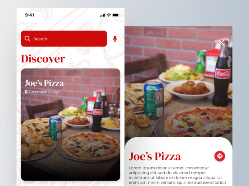 NYC Pizza Tours App #MadeWithAdobeXD map navigation exploration nyc tours pizza ux ui userinterface adobe xd adobe