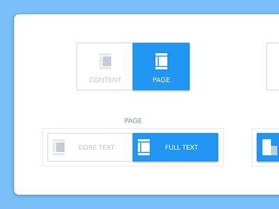 Audit tool button exploration - MarketMuse content toggle button buttons web app product design