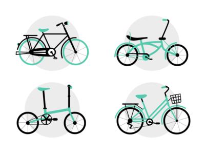 Bike bicycling bicycle bikes bike design artwork flatillustration flatdesign illustration adobexd