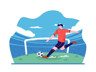 Football Player Illustrations illustrator adobe illustration art illustrations footballer ball sport players football
