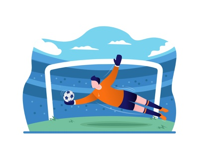 Football Player Illustrations (Goalkeeper) sport illustration sport art illustrator illustration footballer football ball adobe illustrator adobe