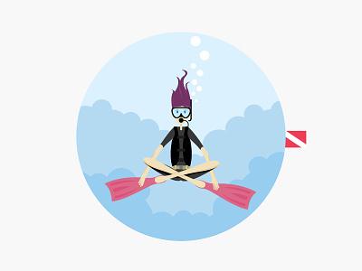 Dive & Peace diver peace meditation underwater scuba sea