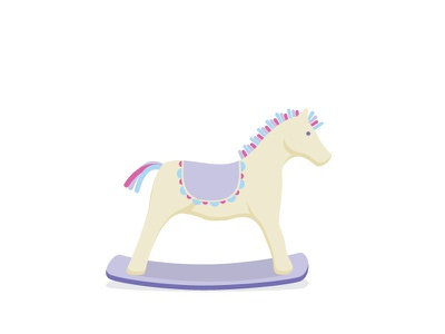 Little wooden horse horse toy cute