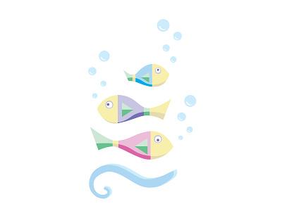 Fish family fish babyish ocean family