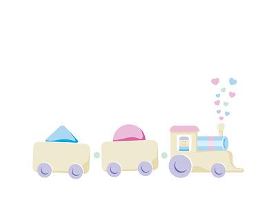 Train of Love babyish train toy heart