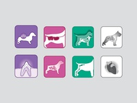 Pet food icons