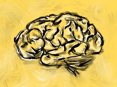 Yellow brain yellow brush brain