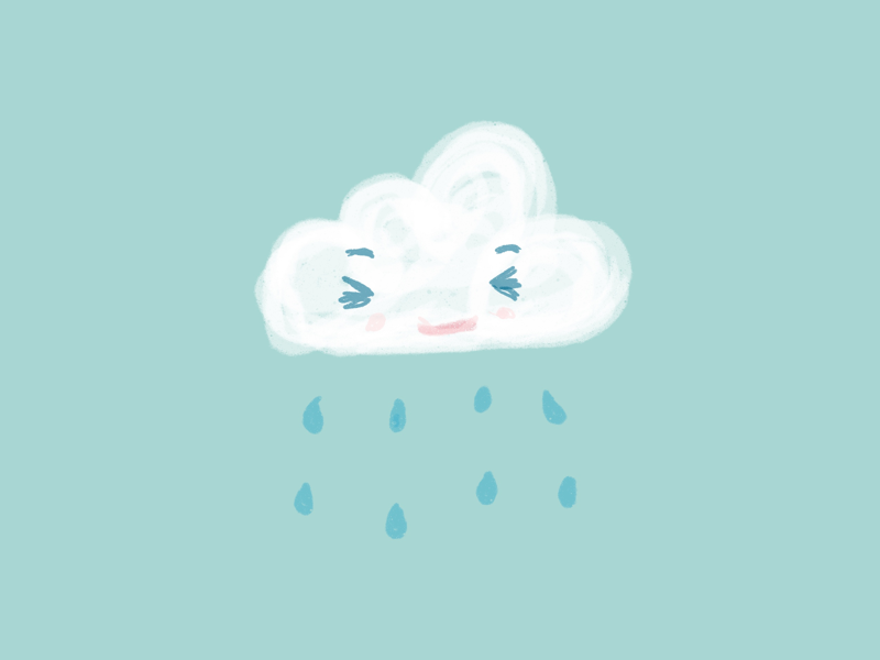 Weeping cloud lluvia descarga emoción nube