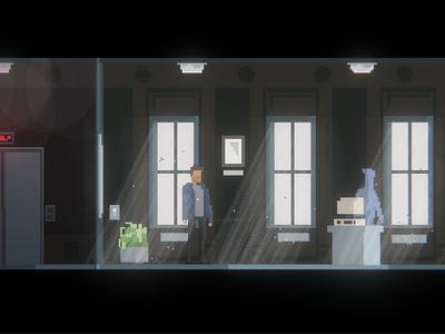 Office level from my new pixel art game illustration games art pixelart game art game design pixel perfect pixel art