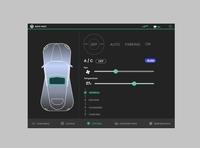 Car interface design. ui ux branding flat logo web typography design dailyui