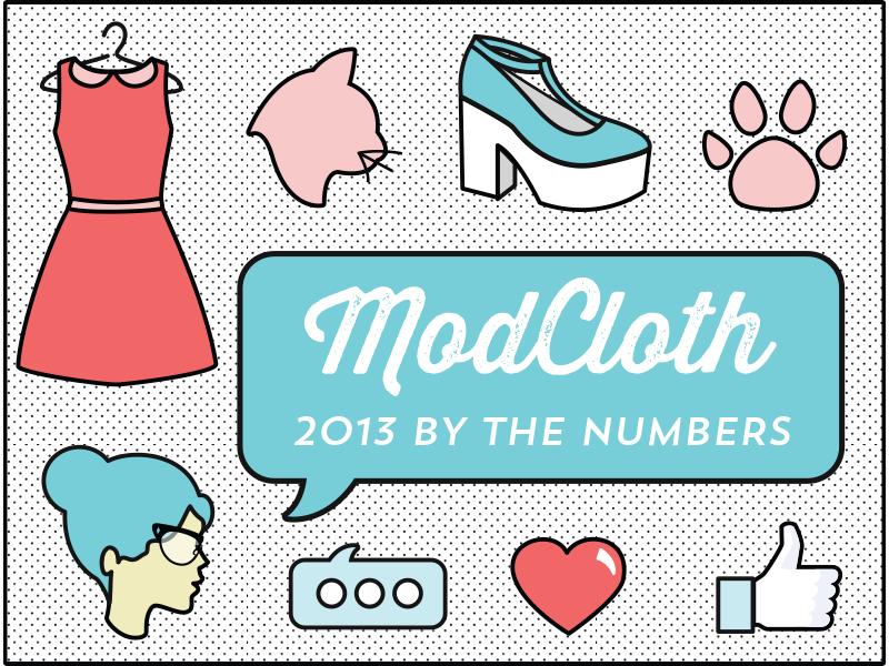 ModCloth 2013 Infographic infographic illustration