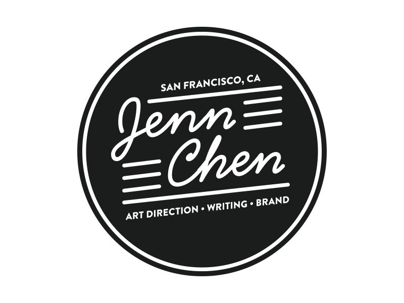 Badge for Jenn Chen logo badge brand