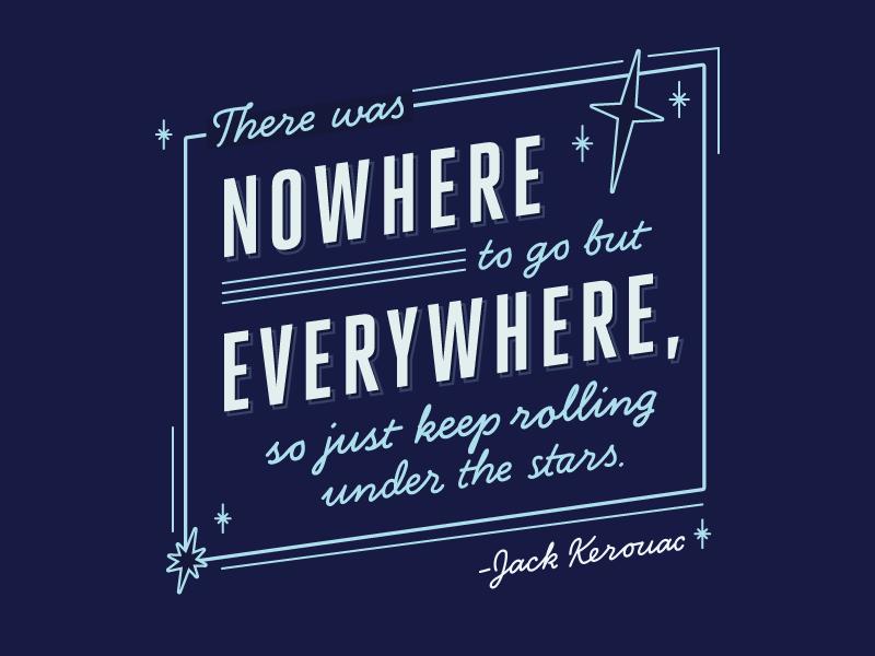 Kerouac quote typography script