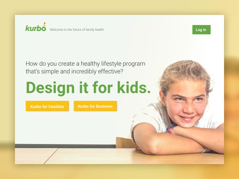 Kurbo Health Splash Page landing page web splash page