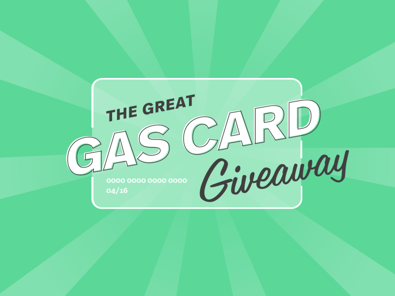 The Great Gas Card Giveaway Identity credit card promo giveaway lockup logo