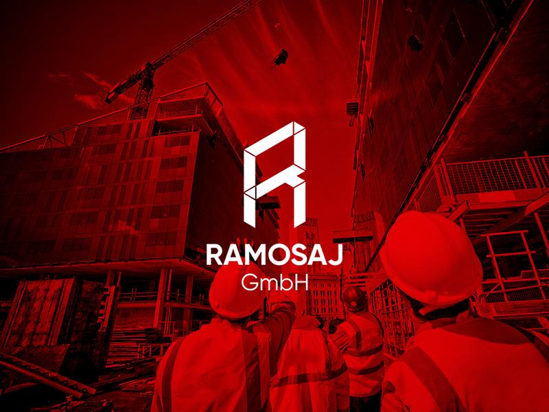 Ramosaj GmbH - Logo Design symbol mark minimal stuttgart germany corporate branding identity company plasterboard logo isometric