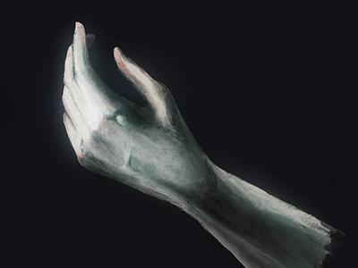 Ghost Hand drawing study anatomy study ghost painting digital art illustration procreate digital art