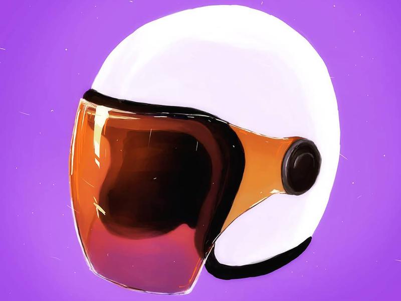 ¯\_(ツ)_/¯ digital illustration digital painting digital art photoshop drawing helmet illustration