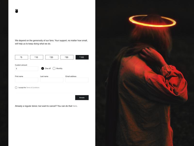 Donate minimalistic minimalism minimalist minimal ui web webdesign stripe form donate donations web design