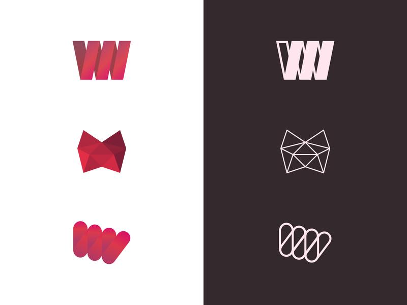 Logo Experiments linework mark material lines linestyle design vector minimal logo branding