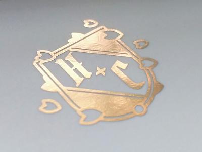 Crest print print design icon foil wedding wedding invite sakura typography vector branding logo