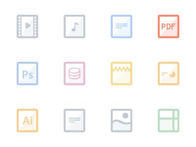 Flat files - PDF vector