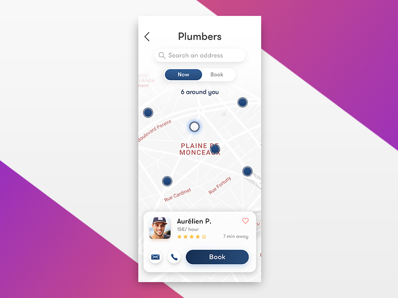 Minimal Map UI map ui gradient sketch iphone x card ui cards card map uiux mmml minimal