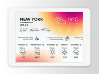 Weather UI iPad