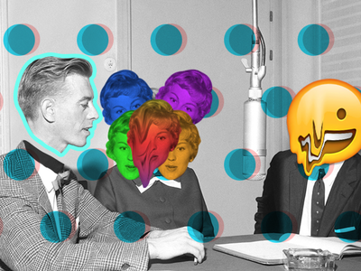 Talking Heads social mixed illustration