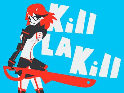 Trinquette: Kill La Kill pinup illustration flash