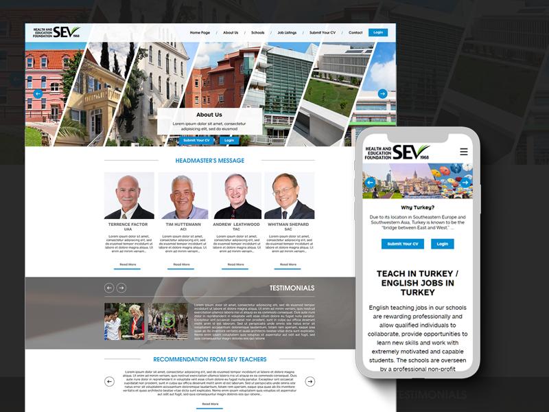 Teachabroadturkey webdesign web onepage fullwidth blue white clean responsive