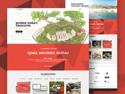Orbit Agency red webdesign clean white onepage web agency responsive